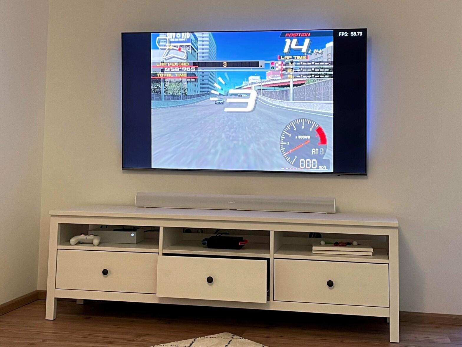 Meine Xbox Series S beim ersten Start von Ridge Racer V.