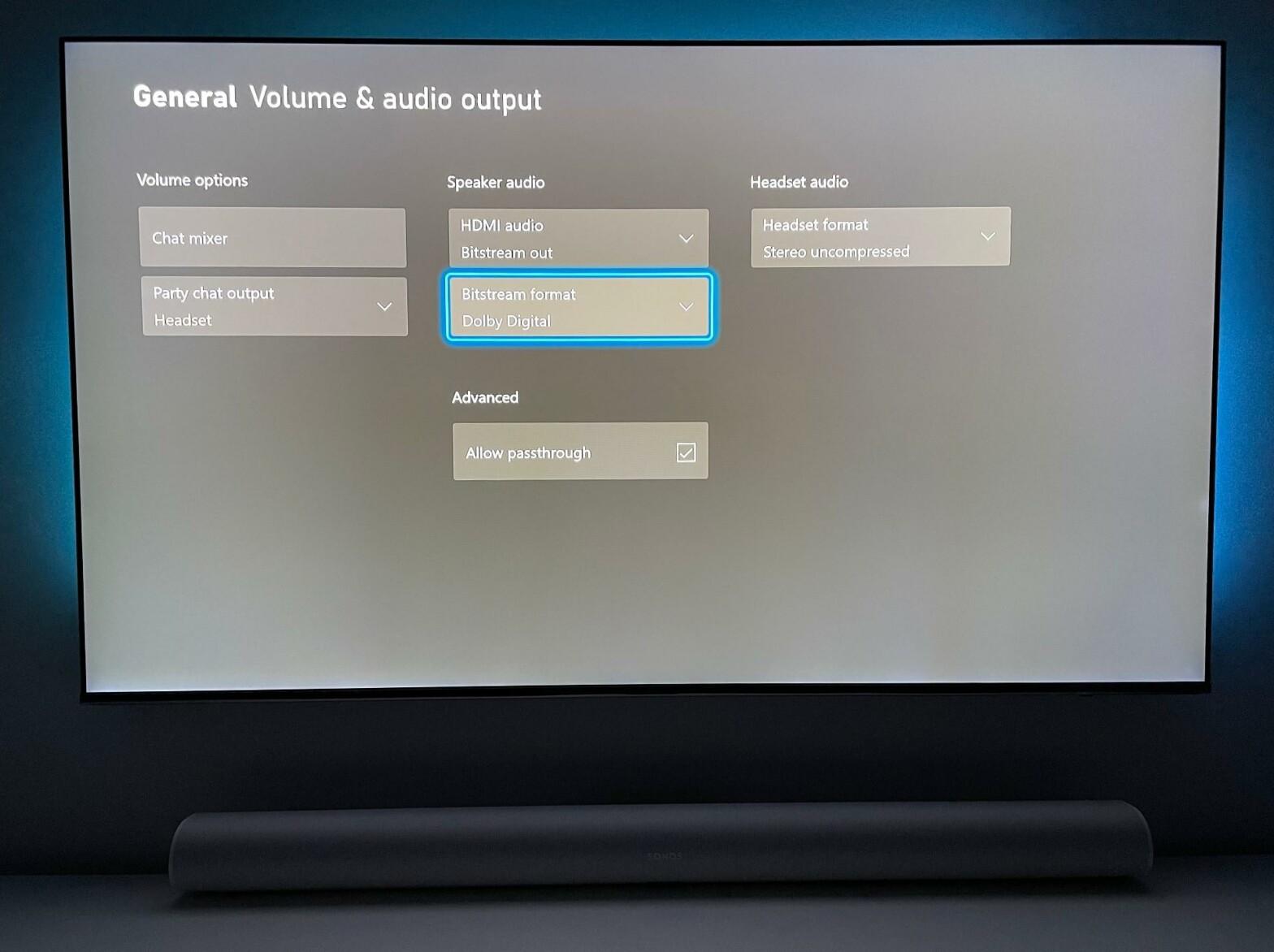Diese Konfiguration mit Dolby Digital funktioniert